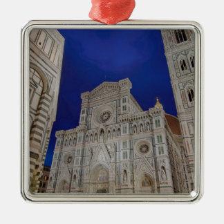 De kathedraal van Santa Maria del Fiore in Italië Zilverkleurig Vierkant Ornament