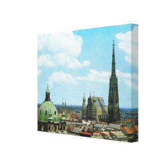 De kathedraal van Wenen, St Stephen, Oostenrijk Canvas Afdruk