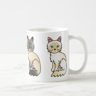 De Katten Birman/Ragdoll van de Gestreepte kat van Koffiemok