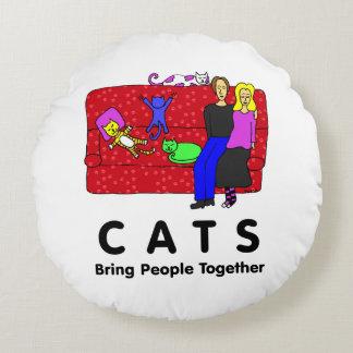 De katten brengen Mensen bijeen Rond Kussen