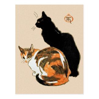 De katten door Theophile Steinlen Briefkaart