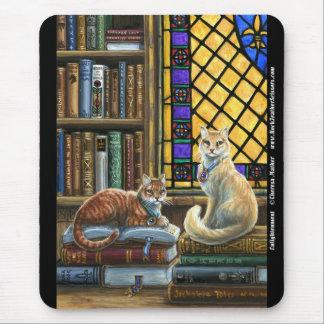 De Katten Mousepad van de Bibliotheek van de Muismat