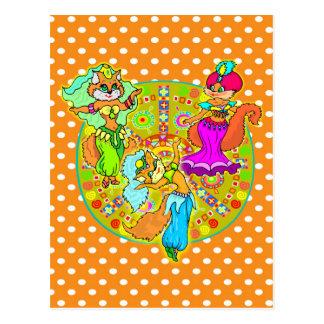 De Katten van buikdansen Briefkaart
