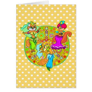 De Katten van buikdansen Briefkaarten 0