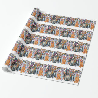 De Katten van Caroling Inpakpapier