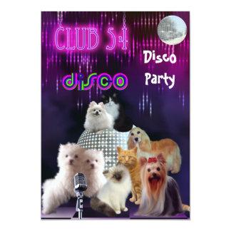 De Katten van de Honden van de Partij van de Disco Kaart