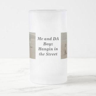 De katten van de straat matglas bierpul