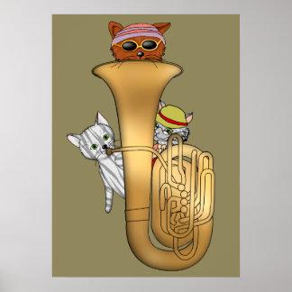 De Katten van de tuba Poster