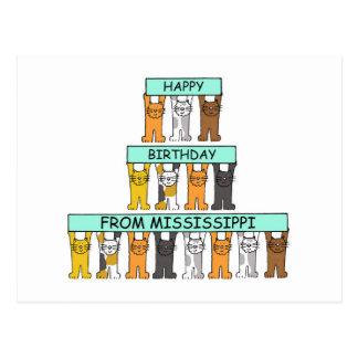 De Katten van de Verjaardag van de Mississippi Briefkaart