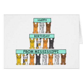 De Katten van de Verjaardag van de Mississippi Wenskaart