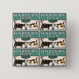 De Katten van Harper Vierkante Button 5,1 Cm
