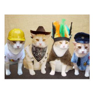 De Katten van het dorp Briefkaart