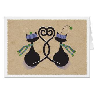 De Katten van het Liefje van Valentijn Briefkaarten 0