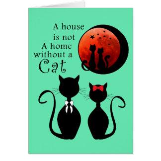 De Katten van het paar in het huis Wenskaart