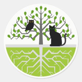 De Katten van Kuzash van Stiker Ronde Sticker