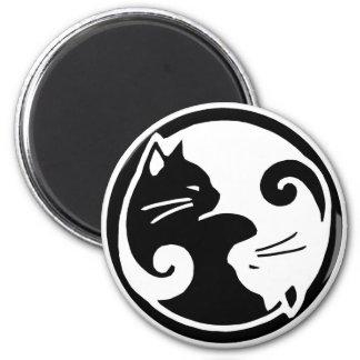 De Katten van Yang van Yin Magneet