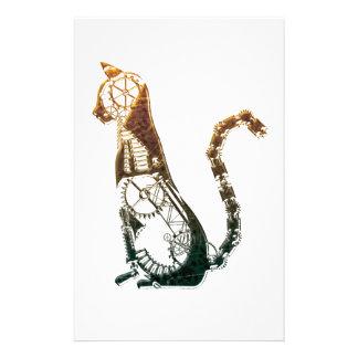 De kattenbriefpapier van Steampunk Briefpapier