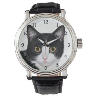 De kattengezicht van de smoking horloges
