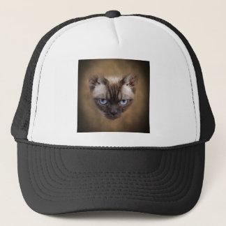 De kattengezicht van Devon Rex Trucker Pet