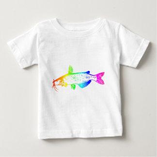 De Katvis van de regenboog Baby T Shirts