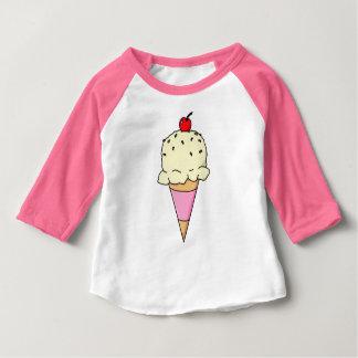De Kegel van het Roomijs van de vanille Baby T Shirts