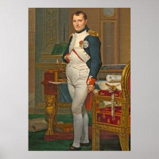 De keizer Napoleon in Zijn Studie in Tuileries Poster