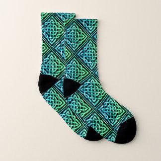 De Keltische Blauwgroene Sokken van de Diamant van
