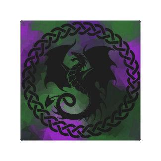 De Keltische Draak van de Cirkel Canvas Afdruk