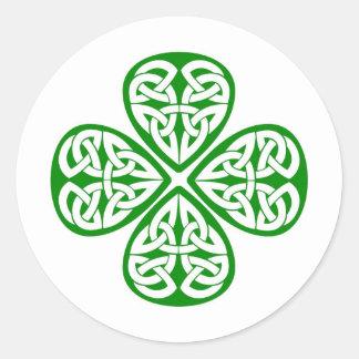 De Keltische Klaver van de Knoop Sticker