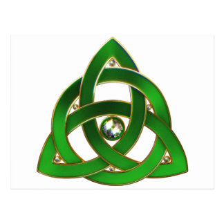 De Keltische Knoop van de Drievuldigheid Briefkaart