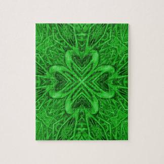 De Keltische Puzzel van de Klaver met de Doos van Foto Puzzels