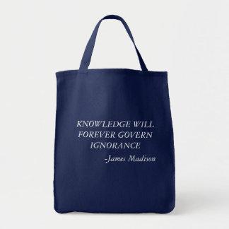 De kennis zal voor altijd onwetendheidsbolsa draagtas