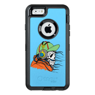 De Kerel van de schedel OtterBox Defender iPhone Hoesje