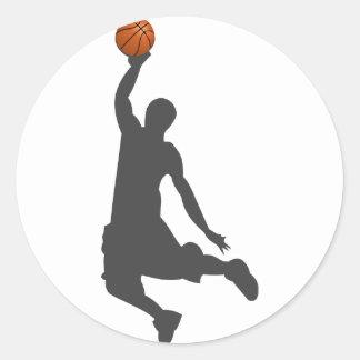 De Kerel van de Vlieg van het basketbal Ronde Sticker