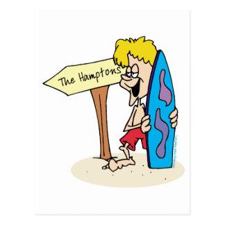 De Kerel van Surfer Hamptons Briefkaart