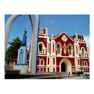 De Kerk van Bantay, Ilocos Sur, Filippijnen Briefkaart