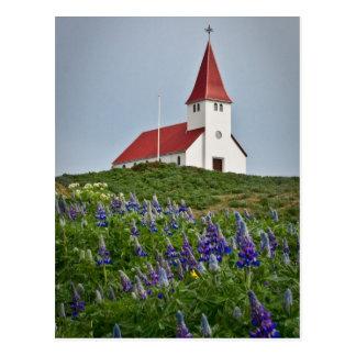 De Kerk van de heuveltop Briefkaart