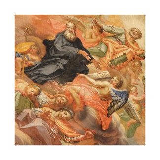 De Kerk van de Muurschildering van het plafond van Stretched Canvas Prints