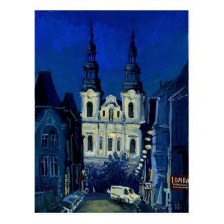De kerk van de nacht briefkaart