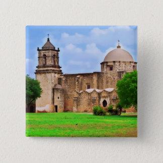 De Kerk van de opdracht San José Vierkante Button 5,1 Cm
