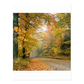 De Kernachtige Middag Vermont van de herfst Briefkaart
