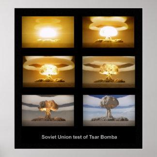 De kerntestposter van Bomba van de Tsaar van de Poster
