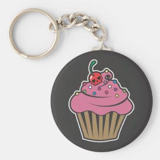 De Kers Cupcake van het vergift Basic Ronde Button Sleutelhanger