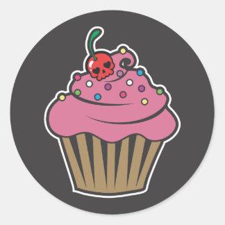 De Kers Cupcake van het vergift Ronde Sticker