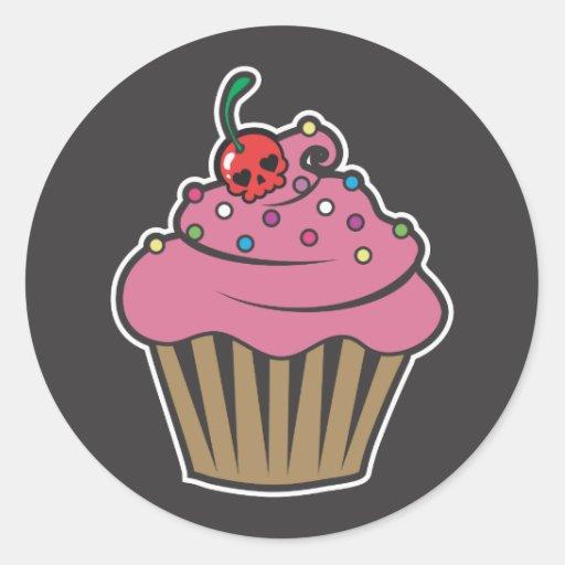 De Kers Cupcake van het vergift Stickers