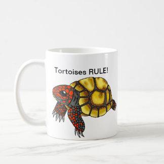 De kers-hoofd rood-Betaalde Mok van de Schildpad