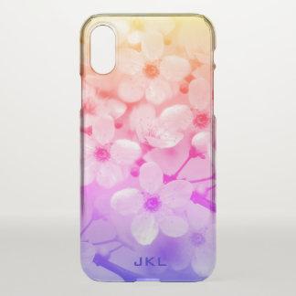 De Kers van de regenboog komt Monogram tot bloei iPhone X Hoesje