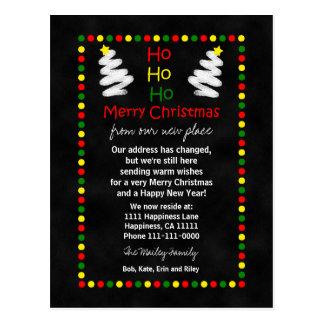 De Kerstbomen van het Bord van de adreswijziging Briefkaart