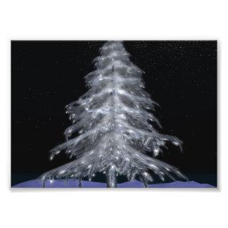 """De Kerstboom #3 7 """" x5"""" de Druk van het kristal Fotoprints"""