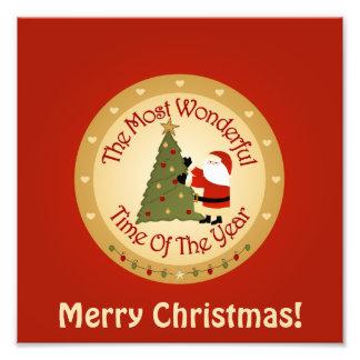 De Kerstboom van de kerstman Foto Afdrukken